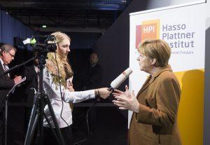 Hans-Joachim Allgaier & Angela Merkel 19. November 2015 Hasso-Plattner-Institut, [Foto: KAY HERSCHELMANN]
